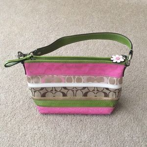 Pink and Green coach purse!